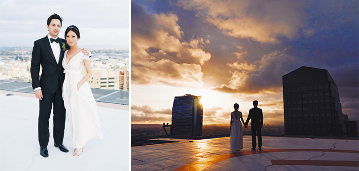 nina lance, christopher lance, dtla wedding, rooftop wedding