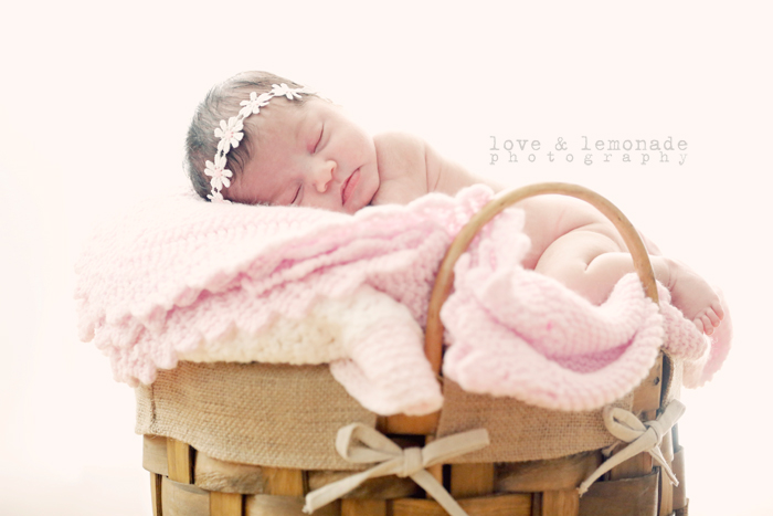 photos of babies in baskets